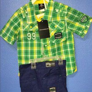 Boys Akademiks Shirt & Short Set